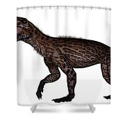 Lycaenops Dinosaur Roaring, White Shower Curtain