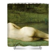 Lying Nude Shower Curtain