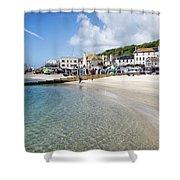 Lyme Regis Beaches - June 2015 Shower Curtain