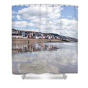 Lyme Regis Seafront Shower Curtain