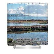 Lyme Regis Seascape 2 - October Shower Curtain