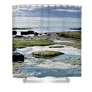 Lyme Regis Seascape 4 - October Shower Curtain