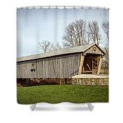 Lynchburg Covered Bridge Shower Curtain