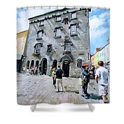 Lynches Castle Galway City Shower Curtain