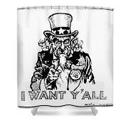 Lyndon Johnson: Cartoon Shower Curtain