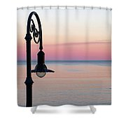 Lynn Waterfront Red Sunset Lynn Ma Shower Curtain