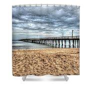 Lynnhaven Fishing Pier, Bay Side Shower Curtain