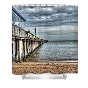 Lynnhaven Fishing Pier, Ocean Side Shower Curtain