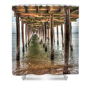 Lynnhaven Fishing Pier, Pillars To The Sea Shower Curtain