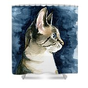 Lynx Point Cat Portrait Shower Curtain