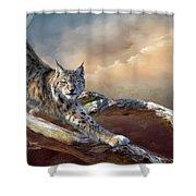 Lynx Spirit Shower Curtain