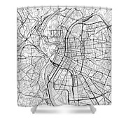 Lyon France Light Map Shower Curtain