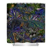 Lysergic Asters Shower Curtain