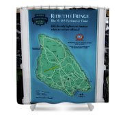 M 185 Ride The Fringe Signage Mackinac Island Michigan Vertical Shower Curtain