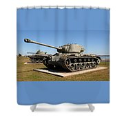 M-26 Pershing Tank Shower Curtain