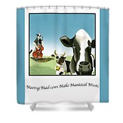 Mooing Mad Cows Shower Curtain