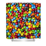 M And M Candy Real Chocolate Minis Shower Curtain