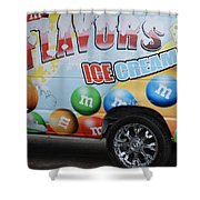 M And M Flavors For The Kids Shower Curtain
