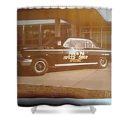 M And N Speed Shop Special Shower Curtain