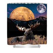 M Index Simple Collage Shower Curtain