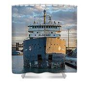 M/v Algoway At The Salt Dock Shower Curtain