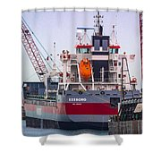M/v Exeborg Shower Curtain