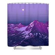 M05413 Moonrise Over Broken Top Shower Curtain