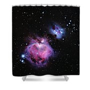 M42--the Great Nebula In Orion Shower Curtain