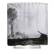 M65 Atomic Cannon Shower Curtain
