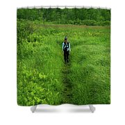 Ma At Section Hiker Shower Curtain