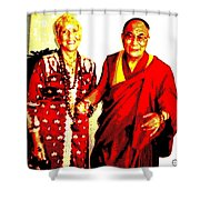Ma Jaya Sati Bhagavati 13 Shower Curtain by Eikoni Images