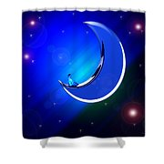 Ma Moon Shower Curtain