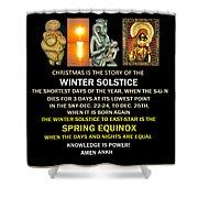 Ma Ra Solstice Shower Curtain