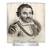 Maarten Harpertszoon Tromp 1598 - 1653 Shower Curtain