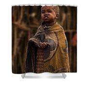 Maasai Boy Shower Curtain