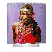 Maasai Moran Shower Curtain