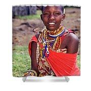 Maasai Teenager Shower Curtain