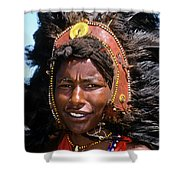 Maasai Warrior Shower Curtain