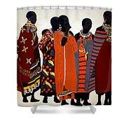 Maasai Women Shower Curtain