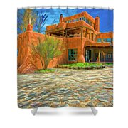 Mabel Dodge Luhan House As Oil Shower Curtain