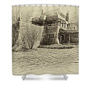 Mabel's House As Antique Print Shower Curtain