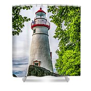 Mablehead Light From The Rocks Shower Curtain