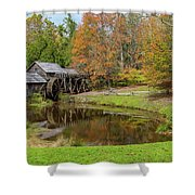 Mabry Mill In Fall 1 Shower Curtain