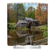 Mabry Mill In Fall 2 Shower Curtain