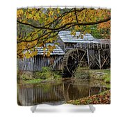 Mabry Mill In Fall 3 Shower Curtain
