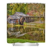 Mabry Mill Reflections Shower Curtain