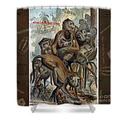 Macaques For Responsible Travel Shower Curtain