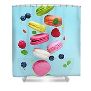 Falling In Love With Macaroons  Shower Curtain