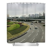 Macau Triptych 3 Shower Curtain