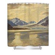 Macco, Georg 1863 Aachen - 1933   Glacier On Spitsbergen Shower Curtain